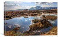 Leum Uillem from Corrour Station on Rannoch Moor, Canvas Print
