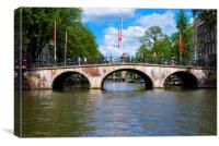 Amsterdam Bridge, Canvas Print