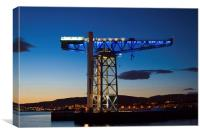 Titan Crane on Clydeside, Canvas Print