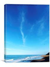 Surfers At Cromer Beach, Canvas Print
