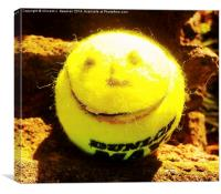 Smiling Tennis Ball- Unique Photography, Canvas Print