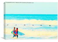 Ready To Surf, Canvas Print