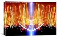 Blast Off- Unique Abstract Light Art, Canvas Print