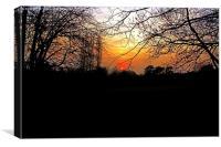 Orange Sunset, Canvas Print