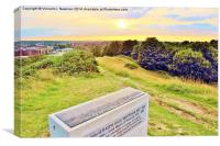 Mousehold Hill At Dusk, Norwich, England., Canvas Print