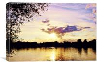 Sunset Over U.E.A Lake, Norwich, England, Canvas Print