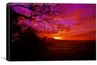 Countryside Sunset, Canvas Print