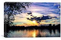 Sunset Over U.E.A Lake, Canvas Print