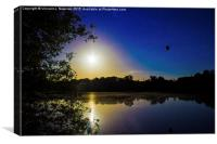 Sunset Over U.E.A Lake , Canvas Print