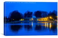 Eaton Park Lake at Dusk, Norwich, England, Canvas Print