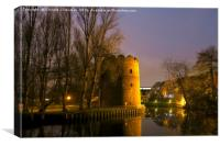 Cow Tower at Night, Norwich, England, Canvas Print