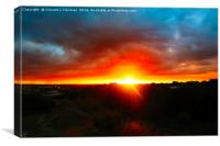 Dramatic Sunset Over Norwich, Canvas Print
