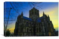 Cathedral of St John The Baptist at Dusk, Norwich,, Canvas Print