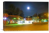 Full Moon Above Norwich Castle Mall, U.K, Canvas Print