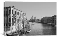 Venice In Black n White, Canvas Print