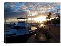 Puerto Calero Sunset Lanzarote, Canvas Print