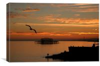 Brighton Lovers, Canvas Print