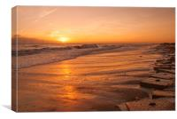 Sunrise at Caister Beach, Canvas Print