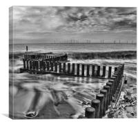 Sea Defences at Caister Beach, Canvas Print