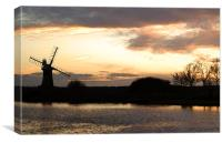 Norfolk Windmill, Canvas Print