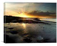 Breydon Water Sunset, Canvas Print