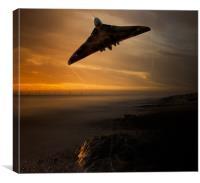 Avro Vulcan at Sunrise, Canvas Print