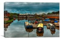 The old Northwich Marina, Canvas Print