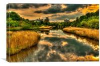 River Weaver Northwich, Canvas Print