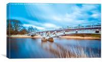 Dutton Horse Bridge River Weaver, Canvas Print