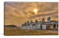 Llanddwyn Island Cottages, Canvas Print