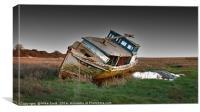 Stranded Boat, Canvas Print