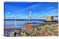 Old Severn Bridge, Canvas Print