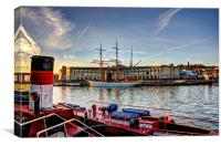 Bristol Floating Harbour, Canvas Print