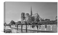 Paris Notre Dame Cathedral, Canvas Print