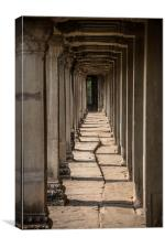 Corridor without tourist, Canvas Print