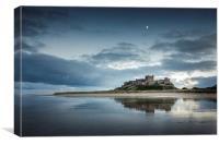 Bamburgh Castle Reflections, Canvas Print