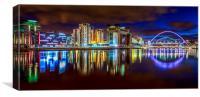 River Tyne at Night, Canvas Print