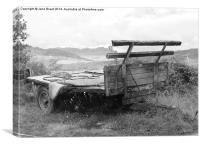 Farmers Trailer, Canvas Print