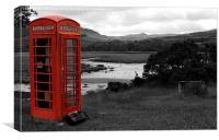 Deserted Phone Box, Canvas Print