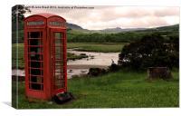 Phone Box on the West Coast, Canvas Print