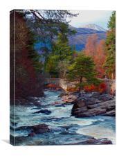 Bridge of Dochart, Canvas Print