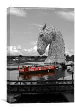 Overlooked by a Kelpie, Canvas Print