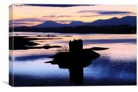 Castle Stalker Silhouette, Canvas Print