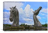 The Kelpies in Falkirk, Canvas Print