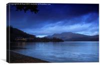 Luss Beach in Loch Lomond at Night, Canvas Print