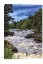 Falls of Dochart in Killin , Canvas Print