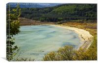 Ostel Bay (Kilbride Bay) in Argyll , Canvas Print
