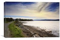 Otter Ferry in Argyll , Canvas Print