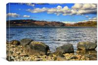 Tighnabruaich on The Kyles of Bute, Canvas Print