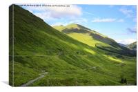 The A83 and Old Military Road , Canvas Print